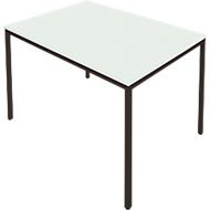 Stahlrohr-Tisch, 1400 x 700 mm, lichtgrau/schwarz