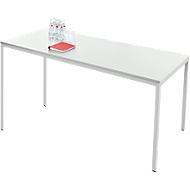 Stahlrohr-Tisch, 1600 x 700 mm, lichtgrau/lichtgrau