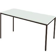 Stahlrohr-Tisch, 1600 x 700 mm, lichtgrau/schwarz