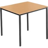 Stahlrohr-Tisch, 800 x 700 mm, Buche-Dekor/schwarz