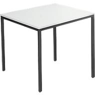 Stahlrohr-Tisch, 800 x 700 mm, lichtgrau/schwarz