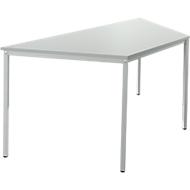 Stahlrohr-Tisch, Trapez, 1600/800 x 690 mm, lichtgrau/lichtgrau