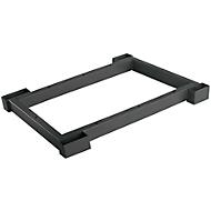 Stahlsockel TETRIS WOOD, Zurückgesetzt, für Regale/Schränke B 400 mm, graphit