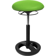 Stahulp Sitness HIGH BOB, ergonomische zitting, zithoogte 490 tot 700 mm, appelgroen, onderstel zwart gepoedercoat