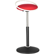 Stakruk ROVO SOLO met ring, 3D-stof, wit/rood