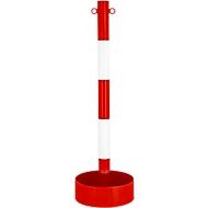 stalen buisvormige kettingsteun, voor binnengebruik, met PVC-folie in rood/witte uitvoering