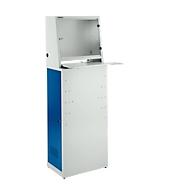 Stalen computer-kast voor werkplaats, B 600 x D 400 x H 1700 mm