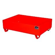 Stalen lekbak zonder rooster, 1200 x 800 mm, rood RAL 3000