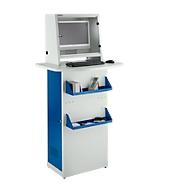 Stalen PC-kast, L 600 x D 400 x H 1728 mm