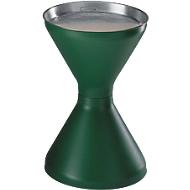 Standascher, Kunststoff (PP), Ascherschale und Sieb, grün