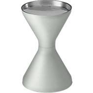 Standascher, Kunststoff (PP), Ascherschale und Sieb, lichtgrau