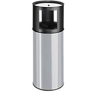 Standascher, m. Sicherheitspapierkorb/Abfallbehälter,schw./silbergr.