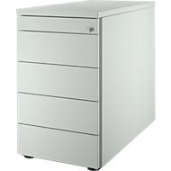 Standcontainer 13333, 5 Schubladen, lichtgrau/lichtgrau/lichtgrau