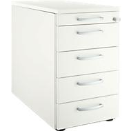 Standcontainer 13333, 5 Schübe, weiß/weiß