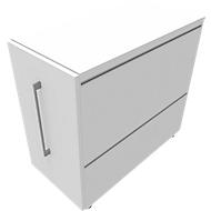 Standcontainer SOLUS PLAY, mit Auszug, Ansatz rechts, Tiefe 400 mm, weiß