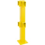 Standpfosten, Winkel 90°, 1000 mm, beschichtet, gelb