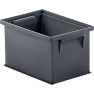 Stapelbak 14/6-4, 2,5 l, gerecyclede kunststof, ijzergrijs, 40 stuks