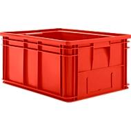 Stapelbak serie 14/6-1, van PP, met handgreep, inhoud 71 l, rood