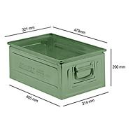 Stapelbak serie 14/6-2, van staal, inhoud 25 l, ideaal voor zware goederen, groen