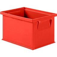 Stapelbak serie 14/6-4, van polypropeen, met handgreep, inhoud 2,5 l, rood