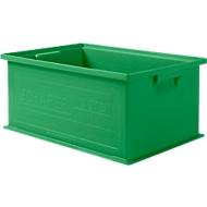Stapelbox SSI Schäfer 14/6-2, geschlossen, Polypropylen, L 465 x B 314 x H 198 mm, 21 l, grün, 10 Stück