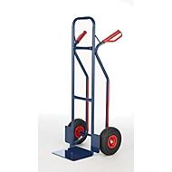 Stapelkar steekwagen, van gelasten stalen buizen, pechvrije wielen van PU-schuim