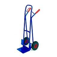 Stapelkarre mit großer Schaufel, Tragkraft 250 kg, Luft-Bereifung
