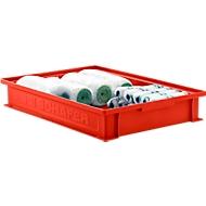 Stapelkasten Serie 14/6-2F, aus Polypropylen, mit Griffmulde, Inhalt 8 L, rot