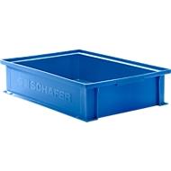 Stapelkasten Serie 14/6-2G, aus Polypropylen, mit Griffmulde, Inhalt 10,3 L, blau