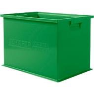 Stapelkasten Serie 14/6-2Z, aus Polypropylen, mit Griffmulde, Inhalt 33 L, grün
