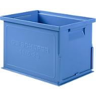 Stapelkasten Serie 14/6-3 S, aus Polypropylen, mit Griffmulde, Inhalt 9,3 L, blau