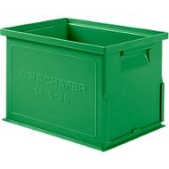 Stapelkasten Serie 14/6-3 S, aus Polypropylen, mit Griffmulde, Inhalt 9,3 L, grün