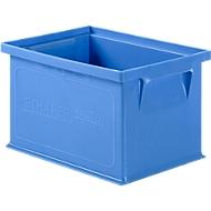 Stapelkasten Serie 14/6-4, aus Polypropylen, mit Griffmulde, Inhalt 2,5 L, blau