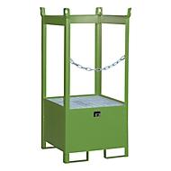 Stapelpallet voor vaten Bauer FSP-1, open aan zijkant, voor 1 x 200 l vat, groen