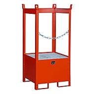Stapelpallet voor vaten Bauer FSP-1, open aan zijkant, voor 1 x 200 l vat, rood