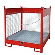 Stapelpallet voor vaten Bauer FSP-4 D, voor 4 x 200 l vaten, rood
