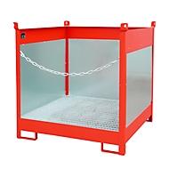Stapelpallet voor vaten Bauer FSP-4 G, spatbeschermingswand 3-zijden, voor 4 x 200 l vaten, rood