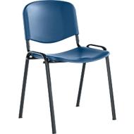 Stapelstuhl ELYEKO, Gestell schwarz, blau
