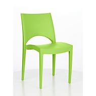 Stapelstuhl SOL, ergonomisch geformt, UV- & wetterbeständig, desinfektionsmittelbeständig, stapelbar bis 20 Stück, grün