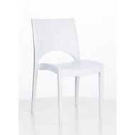 Stapelstuhl SOL, ergonomisch geformt, UV- & wetterbeständig, stapelbar bis 20 Stück, weiß
