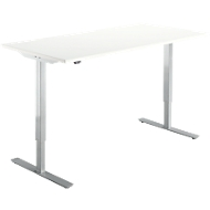 Start Up bureau, elektrisch in hoogte verstelbaar, T-poot, B 1600 x D 800 mm, , wit