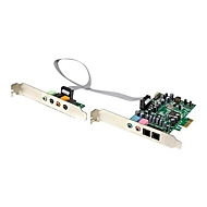 StarTech.com 7.1 Kanal PCI Express Soundkarte - PCIe Sound Karte mit SPDIF optisches Kabel - 24-bit - 192KHz - Soundkarte