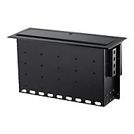 StarTech.com Dual-Module Conference Table Connectivity Box-Customizable - Befestigungsplatte