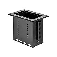 StarTech.com Single-Module Conference Table Connectivity Box-Customizable - Befestigungsplatte