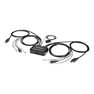 StarTech.com SV211DPUA4K USB DisplayPort KVM Switch (Unterstützt 3,5-mm-Audio, DisplayPort 1.2, USB-powered, OS-unabhängig) - KVM-/Audio-Switch - 2 Anschlüsse