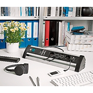 Steckdosenleiste Brennenstuhl Alu Office Line, 4-fach, 2 x USB, IP20, Überspannungsschutz bis 60000 A, Aluminium
