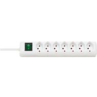 Steckdosenleisten Swiss-Line mit Schalter, 7-fach