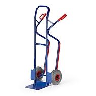 Steekwagen met stalen buizen, draagvermogen 250 kg, massief rubberen banden