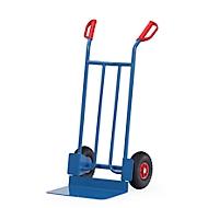 Steekwagen met stalen buizen en groot laadvlak, lucht, 15 kg