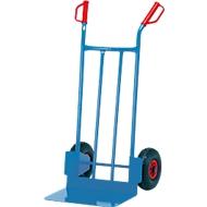Steekwagen met stalen buizen en groot laadvlak, massief rubber, 17,5 kg